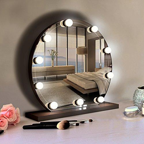 Kit de Lumière de Miroir de Style Hollywood, Lampe pour Salle de Bain, lampe de coiffeuse table avec variateur et bloc d'alimentation, Blanc 4500K Lumière Réglable pour Maquillage, Miroir Cosmétique