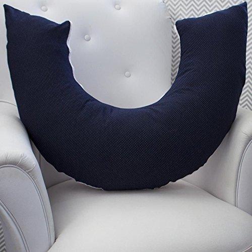 Almofada Amamentação Náutico Poá, Laura Baby, Azul Marinho