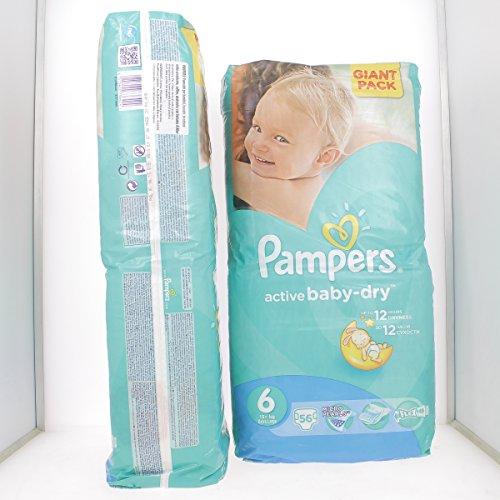 PAMPERS ACTIVE BABY-DRY 6 EXTRA LARGE (15+ Kg) von 56 bis 336 WINDELN ((1 x 56) Windeln)