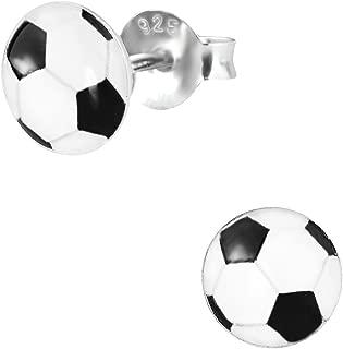 soccer earrings studs