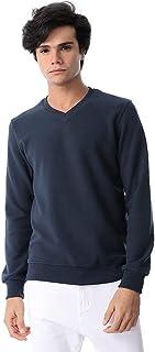 Andora Cotton Regular Fit V-Neck Banded Trims Basic Sweatshirt for Men