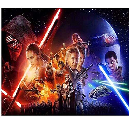 Diy Pintura Diamante de punto de Cruz completa Kits de Bordado de Diamantes Patrón de Mosaico Imagen de Star Wars Poster Regalo Artes y Oficios 30x40cm