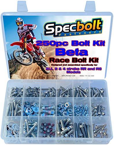250pc Specbolt Beta RR RS Xtrainer Motorcycle Bolt Kit 250 300 350 390 400 430 450 480 498 520 525 2 & 4 Strokes.