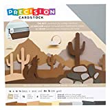 American Crafts Precision Cardstock Pack 80lb 12'X12' 60/Pkg-Neutral/Textured