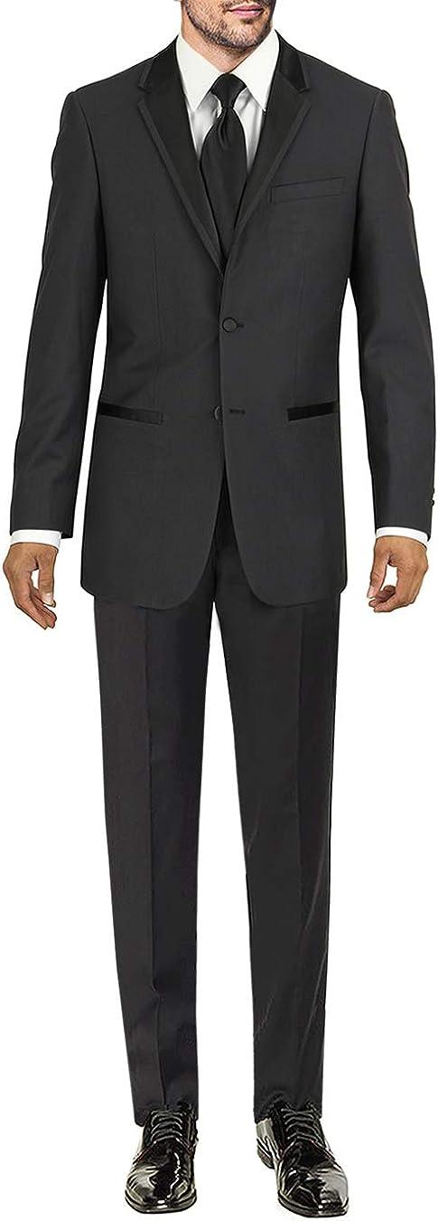 Marzzotti Eleganz Men's Two Button Modern Fit Tuxedo Suit