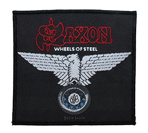 """Saxon: Wheels of Steel"" Heavy Metal Rock Band Merchandise Sew On Applique Patch"