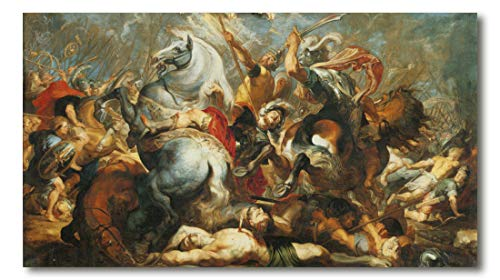 Cuadro Decoratt: Batalla de Veseris - Rubens 86x48cm. Cuadro de impresión directa.