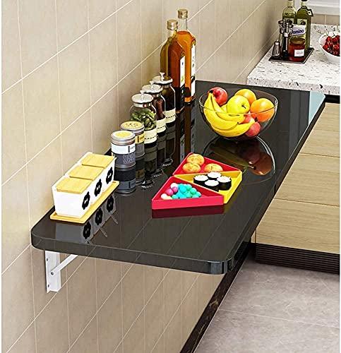 WDSZXH Mesa Plegable en la Pared, Mesa de computadora Plegable, Estante de Almacenamiento Plegable, Mesa de Cocina Plegable en la Cocina, Azul, 60x30cm (Color : 120x30cm|Black)