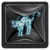 EZIOLY Starlight Katzenknöpfe, quadratisch, für Küchenschränke, Schränke, Kommode, Schrankknöpfe, Schubladengriffe, Hardware, 3 Stück