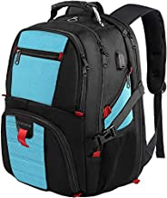 Laptop Backpack,Extra Large Backpacks with USB Charging Port,TSA Travel Computer Backpack for Mens and Women, Water Resistant College School Bookbag Fits 17 Inch Laptops and Notebooks,Blue