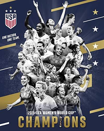 Kopoo US Women's Soccer Team Poster 2019, 12' x 18' (297 x 450 mm)