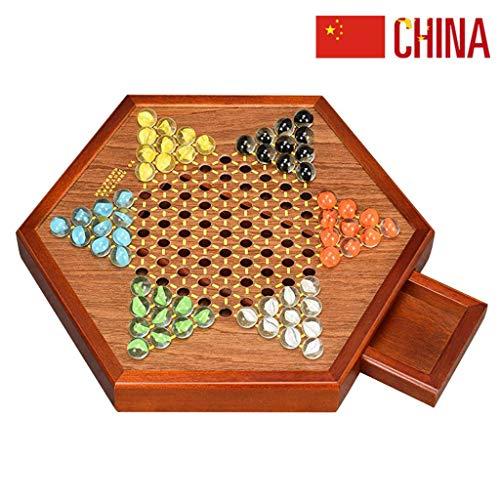 JinLiu Chinesische Dame Mit Murmeln Achat Brettspiel Schachfiguren Enthält 60 Murmeln In 6 Farben Für Familienreisen C