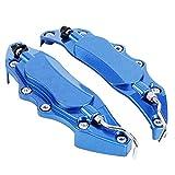 Akozon Protector de Pinza de Freno Cubierta de Aleación de Aluminio para Eje de Rueda 14in-15in Pequeño 2 unids(azul)