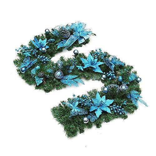 GYH Sapin de Noël - 200cm Décoration de Noël Papillon Fleur Décoration de Noël Décorations de Noël en Rotin (2 Couleurs en Option) /& (Couleur : A)