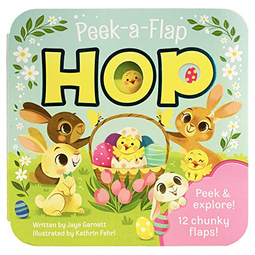 Peek-a-Flap Hop - Children's Lift-a-Flap Board Book Gift for Easter Basket Stuffers, Ages 2-6 (Peek-A-Flap Board Book)