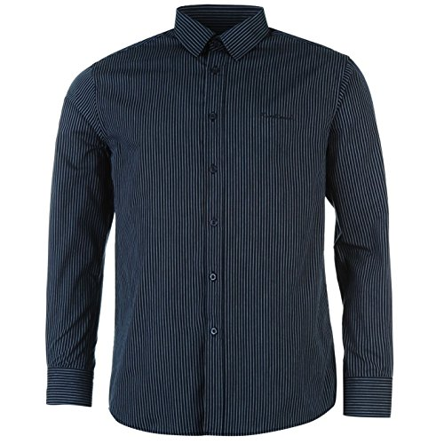 Pierre Cardin Herren Langarm Shirt Knopfverschluss Top Smart Freizeit Hemd M