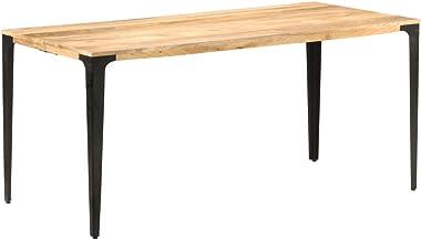 SKM Table de Salle à Manger 160x80x76 cm Bois de Manguier Solide