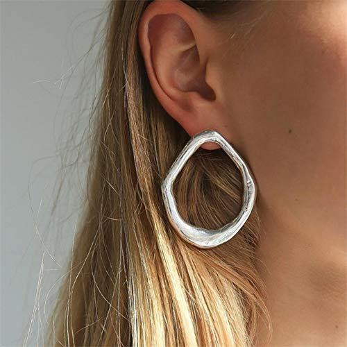 SSEHXL Orecchini 15 Stili Semplice Oro Grande Cerchio Pendente Orecchini Pendenti Dichiarazione di Moda da Donna Geometrica Oro Grande orecchino Gioielli ebreo