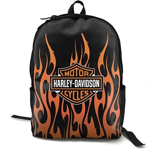 N/A Harley Davidson Pacchetto classico zaino per la scuola nero borsa da viaggio per il poliestere unisex scuola