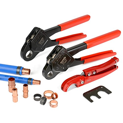 IWISS Combo Angle Head PEX Pipe Crimping Tool Kits Used for 1/2