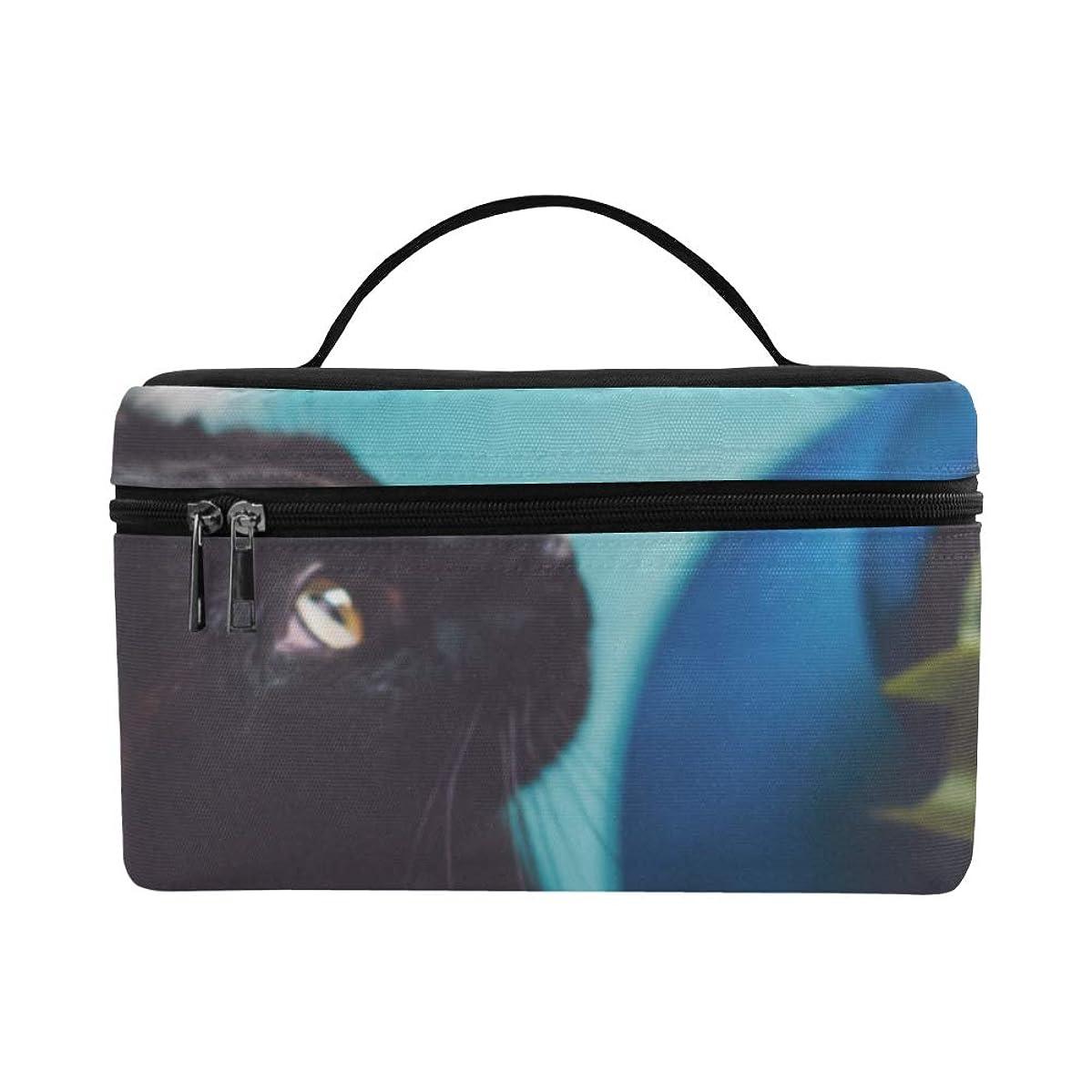 ユーモア浮くラオス人TELSG メイクボックス 猫 チューリップ コスメ収納 化粧品収納ケース 大容量 収納ボックス 化粧品入れ 化粧バッグ 旅行用 メイクブラシバッグ 化粧箱 持ち運び便利 プロ用