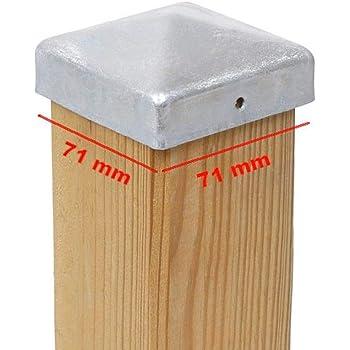 1 x PFOSTENKAPPE PYRAMIDE 71 x 71 MM ALUMINIUM
