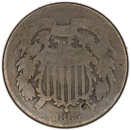 1865 P Two Cent Piece Two-Cent Good