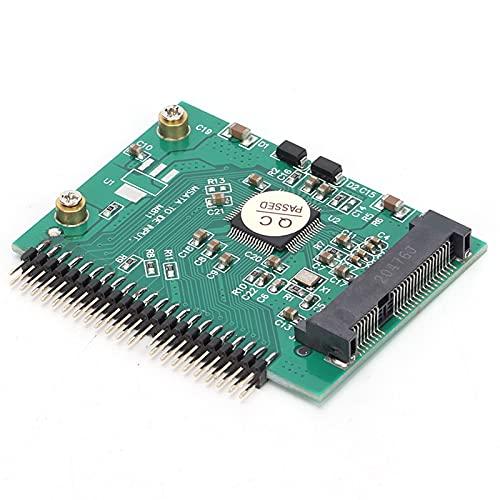 Convertidor IDE De 3.3V, MSATA A IDE Adaptador De Disco Duro PCI E SSD 44Pin 3.3V Para Para DOS Para