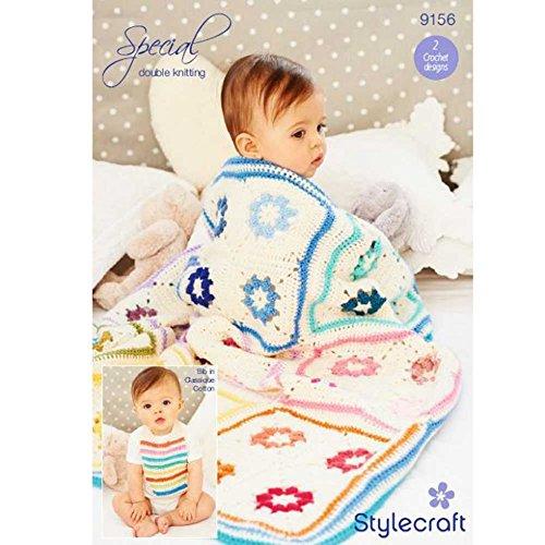 Stylecraft Baby Decke & Lätzchen Special Häkelmuster 9156DK