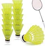 12x Volani palline da badminton gialle per allenamento e competizione Badminton - volano c...