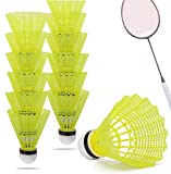 TK Gruppe Timo Klingler 12x Federbälle gelb Badmintonbälle für Training & Wettkampf Badminton - Feder Ball/Bälle Federball für Outdoor & Indoor (12x)
