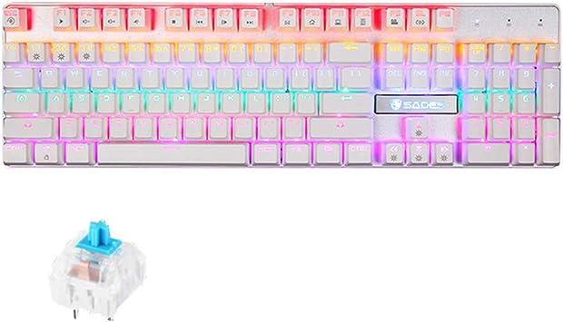 HR teclado de juego, teclado multimedia con cable con ...