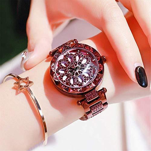 Horloge Mode Tijd om Dames Metaal Staal Band 30 Meter Waterdichte Driedimensionale Pijl Pointer 360 Graden Draaibare Schaal