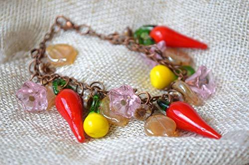 Gemüse Glas Lampwork Armband Paprika Pfeffer