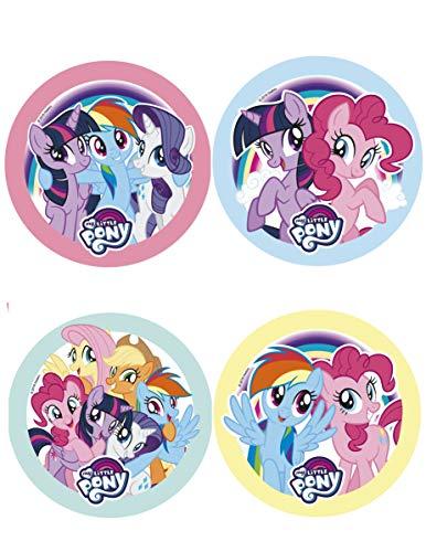 My Little Pony - Disco de Azúcar Comestible para Decorar una Tarta de Cumpleaños Infantil - Diseño Surtido