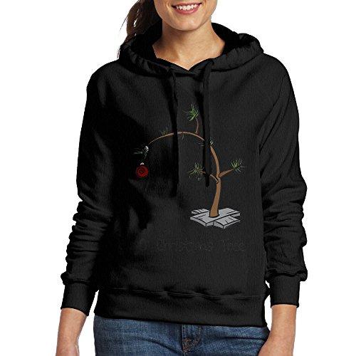 KIMBER Women Hoodie Christmas Tree Crew Neck Long Sleeve Sweatshirt...