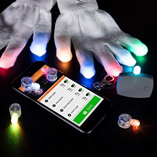 EmazingLights Spectra Evo Light Up LED Gloves (White Glove Set)