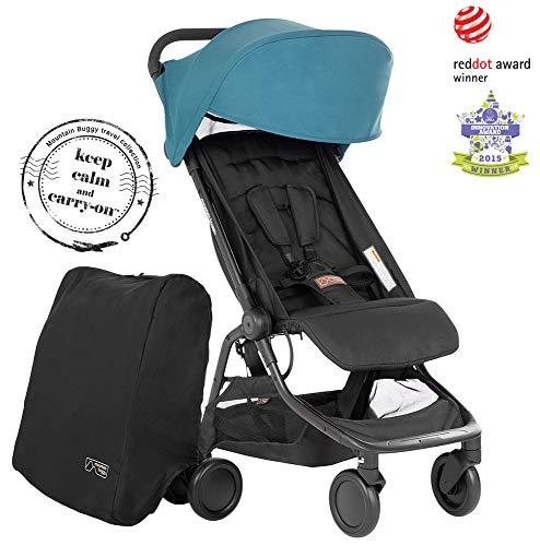 Mountain Buggy Nano V3 (2020+) - Cochecito de bebé con bolsa de viaje, color azul