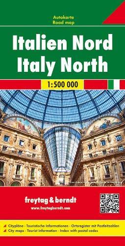 F&B Italië-Noord: Wegenkaart 1:500 000