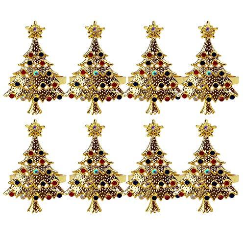 Weihnachtsbaum-Serviettenringe, Tischdekoration für Feiertage, Weihnachten, Thanksgiving, Abendessen, Dekoration, Gastgeschenk
