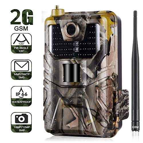 WANGMEILING Jagdkamera wildkamera 20MP 1080P Wildlife Trail Kamera-Foto-Fallen Nachtsicht 2G SMS MMS SMTP Email Cellular Jagd Kameras HC900M Surveillance (Color : HC900M)