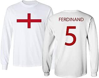 Soccer Legends #5 Rio Ferdinand Jersey Style Men's Long Sleeve T-Shirt