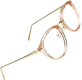 fd7d64af41 TIJN Retro Redonda Gafas Anteojos Gafas con Filtro de luz Azul para  Bloquear el Dolor de