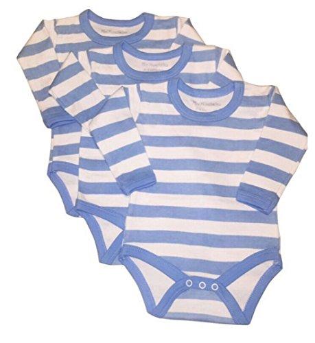 mini munchkin Rompers 6 Pack blauwe streep ontwerp Body Vests. Lange mouwen en gemaakt van 100% katoen