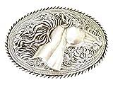 Nocona Women's 3D Horse Head Buckle Silver One Size