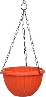 AASHU Hanging planters with Chain (Color -Orange Pack of 1)