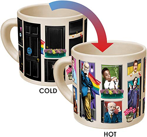 Great Gays Heat Changing Mok - Voeg koffie of thee toe en beroemde homo's uit de geschiedenis komen uit de kast - wordt geleverd in een leuke geschenkdoos