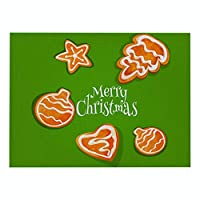 プレースマット 6のグリーンプリンティングシリーズクリスマスコットンリネンプレイスマットセット テーブルのメンテナンスに適しています (Color : 5-25)