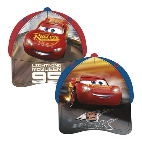 Familie24 Cars Auswahl Baseball Cap Kappe Schirmmütze Kinderbaseballcap (Cars rot 44-46cm)