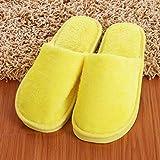 ZapatillasParaMujerAlgodónSlippers,El Otoño Y El Invierno Cálido Amarillo Simple Confortable Int...